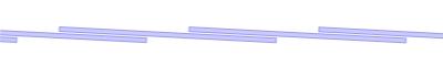 Λωρίδες 200/2 mm - επικάλυψη 73 mm